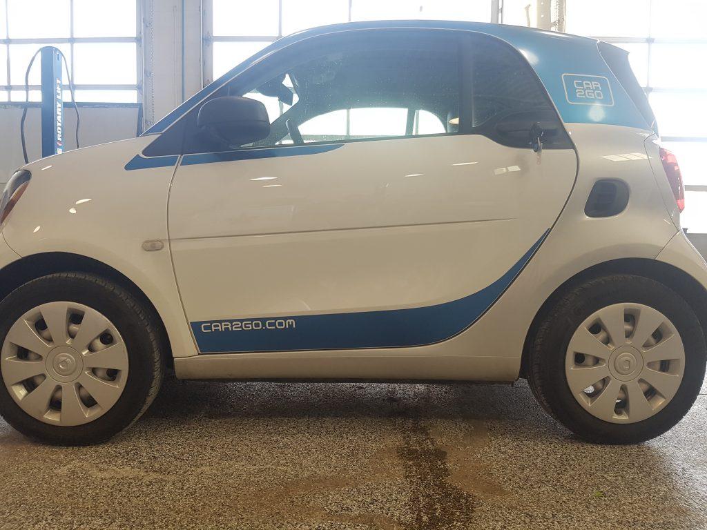 Car2Go Smart Car vinyl graphics