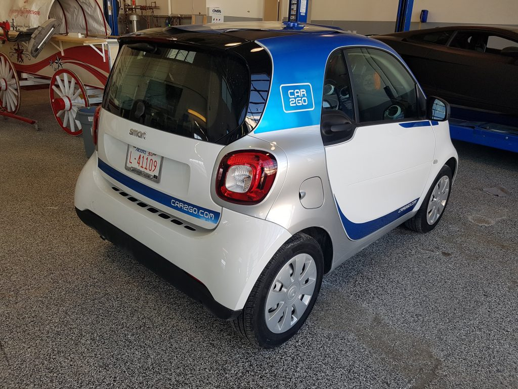 Car2Go Smart Car vinyl graphics