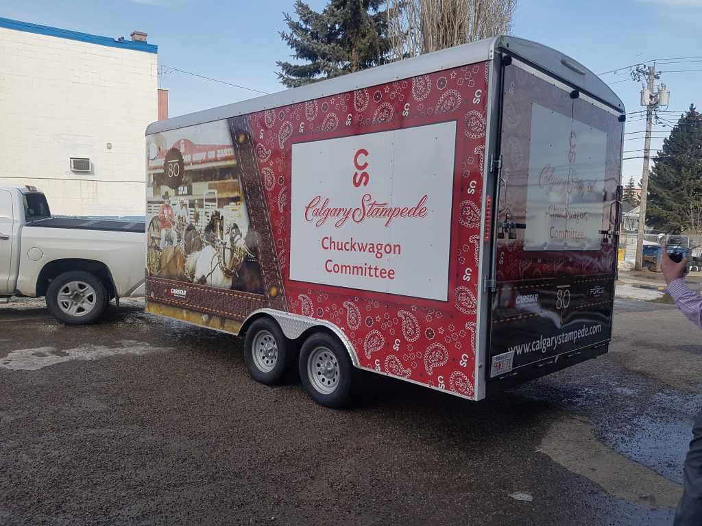 Calgary Stampede Chuckwagon Committee Trailer wrap