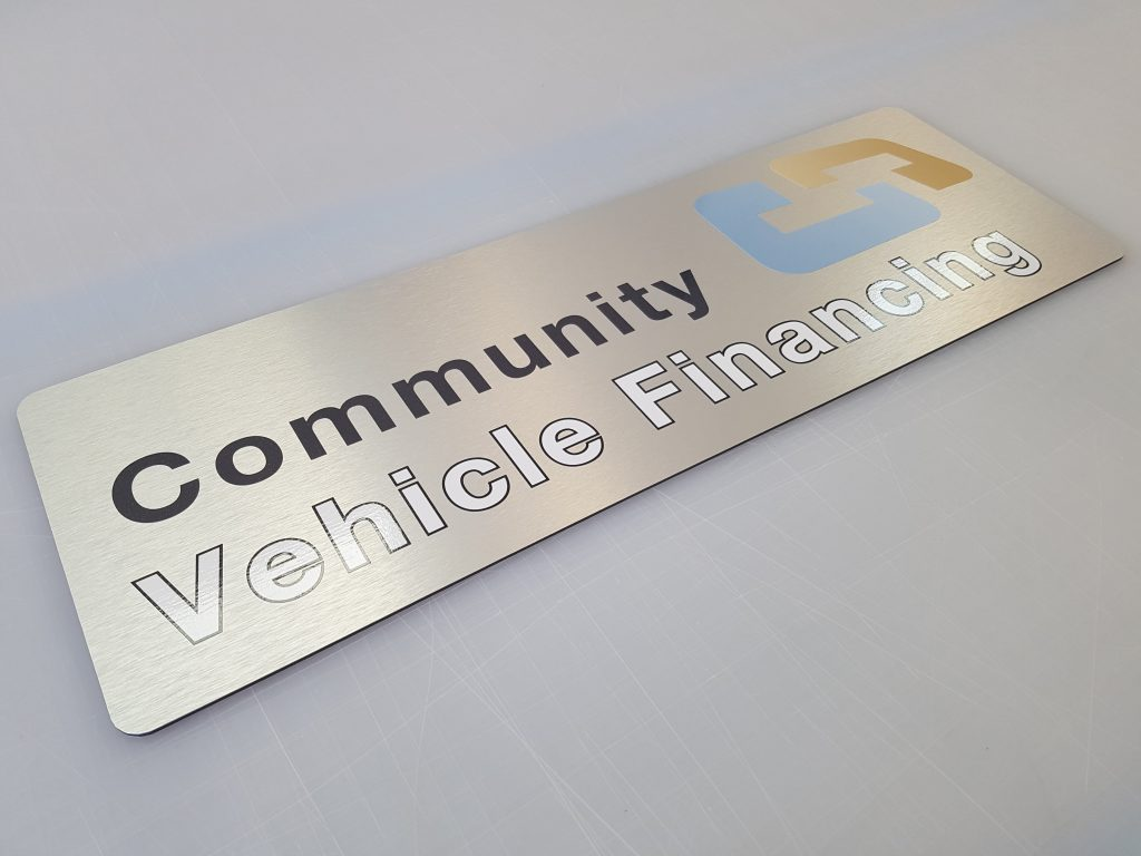 Aluminum Composite Reception sign w/ vinyl graphics