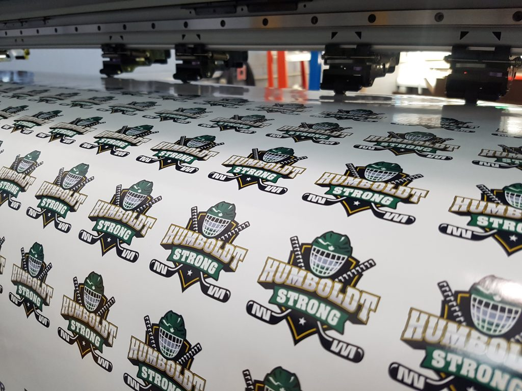 """Custom Printed """"Humboldt Strong"""" stickers"""