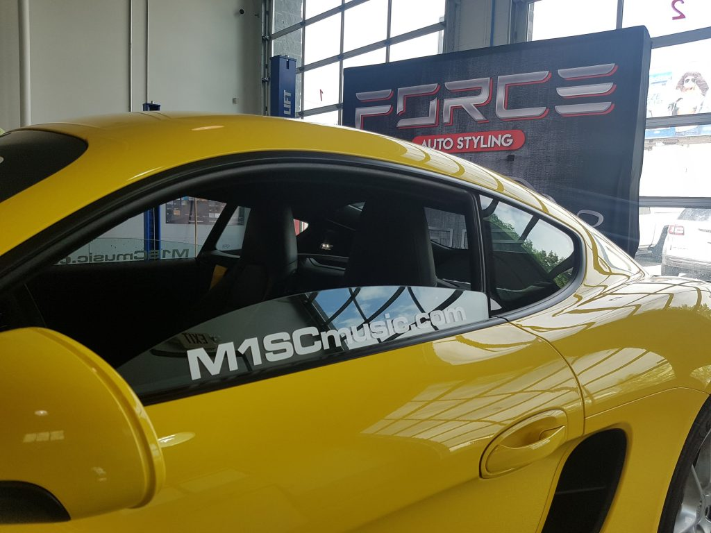 M1SC Music Porsche eyebrow and window decals