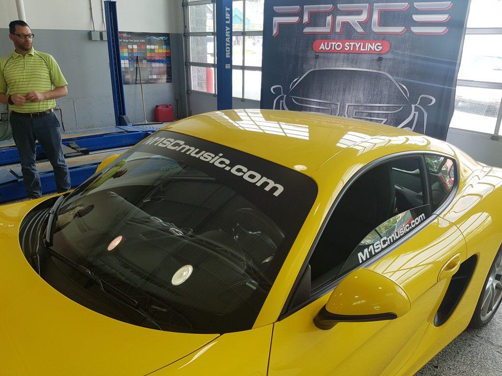 M1SC Music Porsche eyebrow and window decals