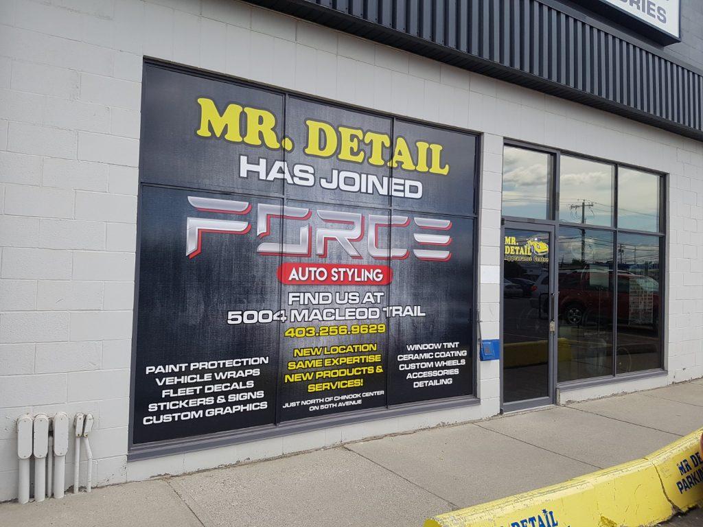 Printed Storefront Window Graphics