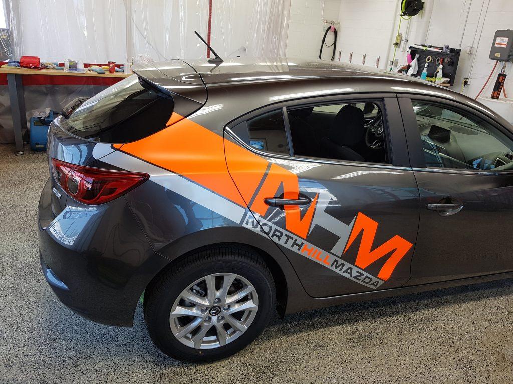 Two-color die-cut fleet wrap graphics