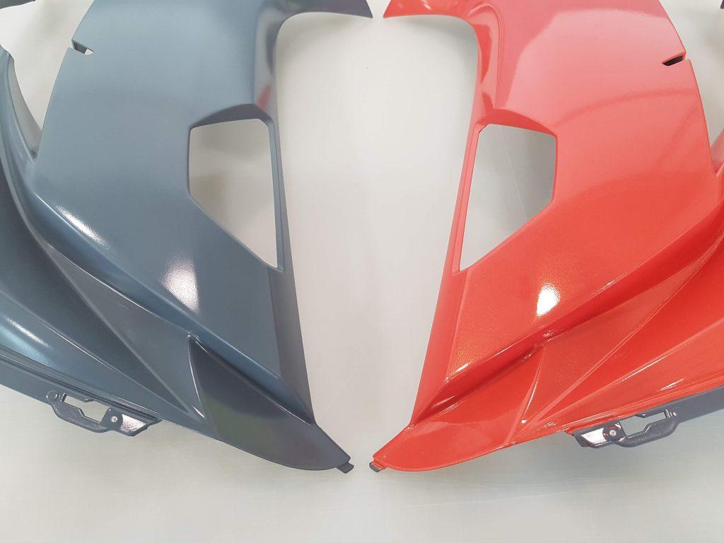 Metallic Orange Side Fairing Cover Wraps