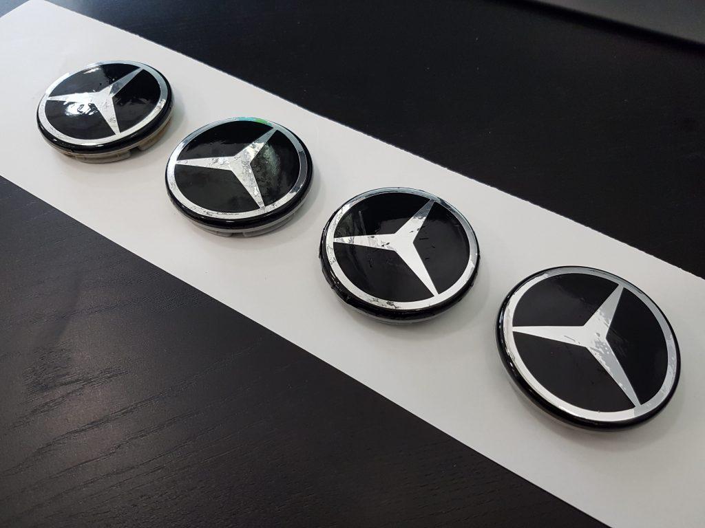 Custom Mercedes Rim Centercap Wraps