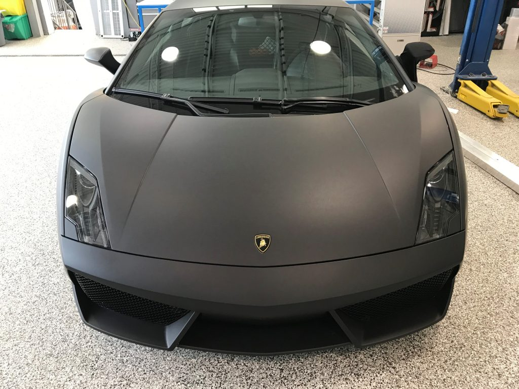 Full Deep Matte Black Lamborghini Wrap
