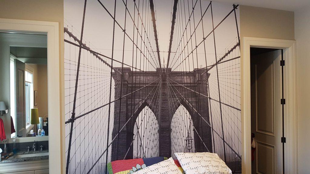Bridge Artwork Wall Wrap