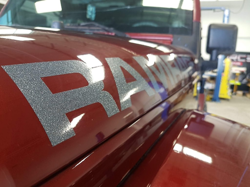 Jeep Rampage hood decals