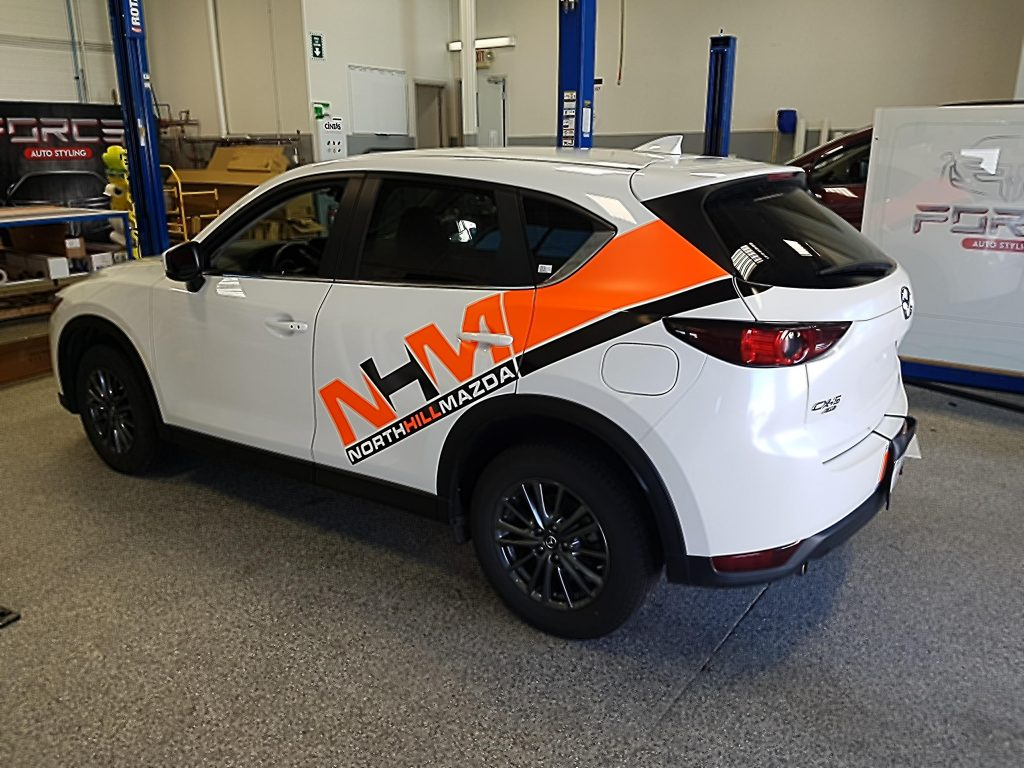 North Hill Mazda vehicle graphics
