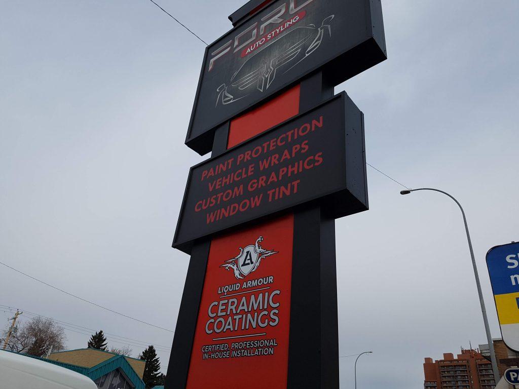 Force Auto Pylon Signage