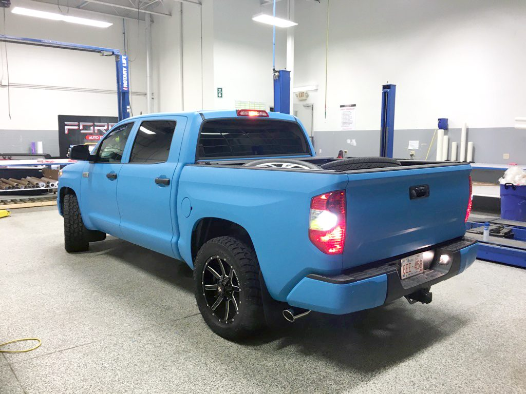 Full Matte Blue Tundra Wrap